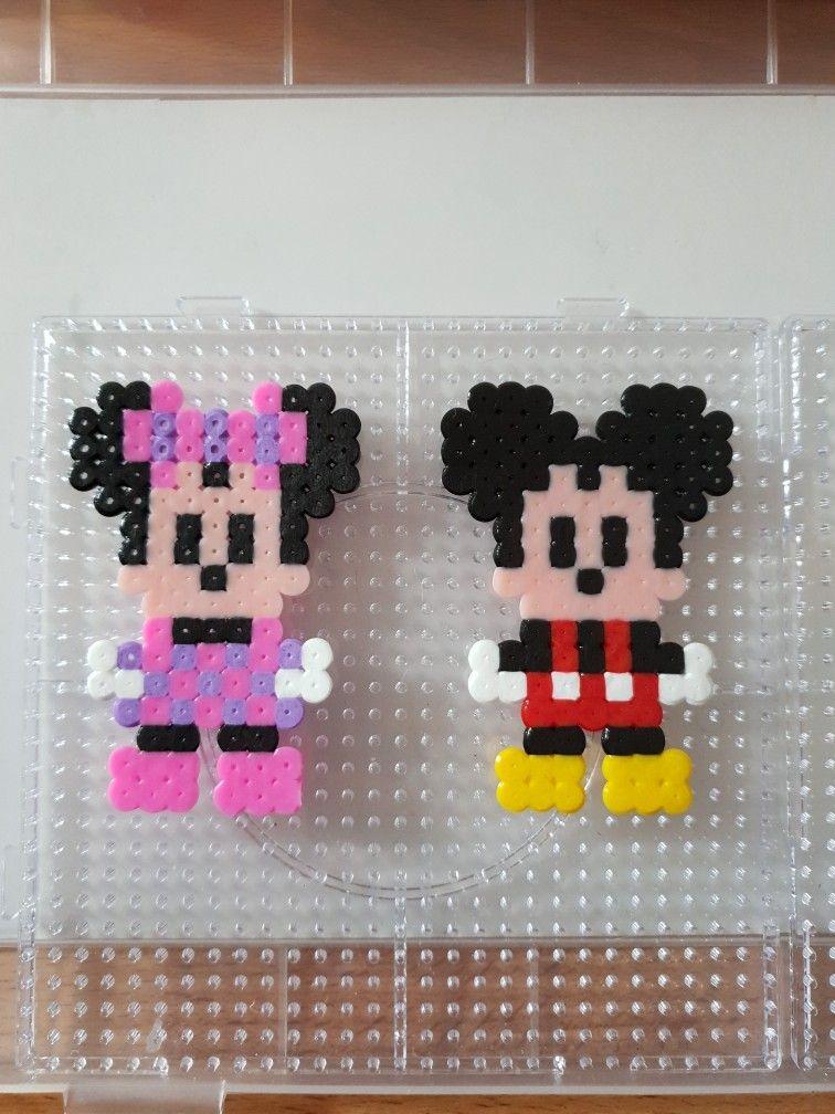 Mickey Und Minnie Mouse Perlerperlen Von 0