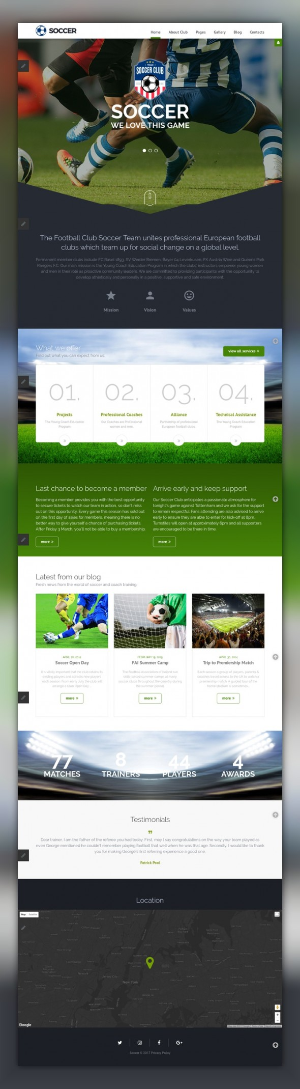 Soccer - Soccer Club Responsive Joomla Template