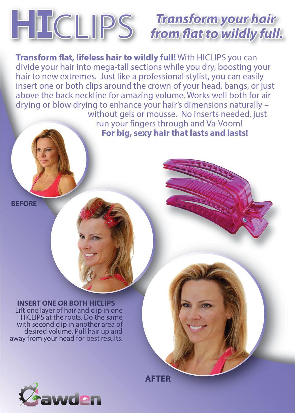 Hair Volumizer Root Lifter Big Hair Styling Volumizing Clips