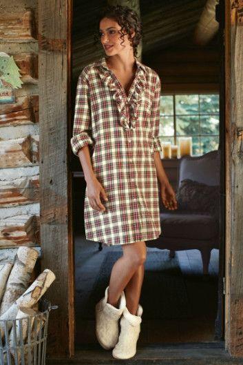 39ed867635 Fireside Nightshirt - Flannel Sleep Shirt