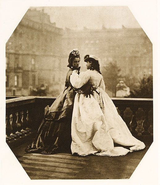 Lady Clementina Hawarden. Daughters on a Balcony. c. 1865.