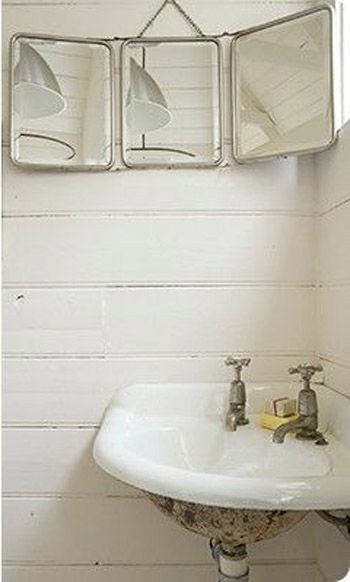 Idea For My Tiny Half Bath Corner Sink And Antique Mirror Home