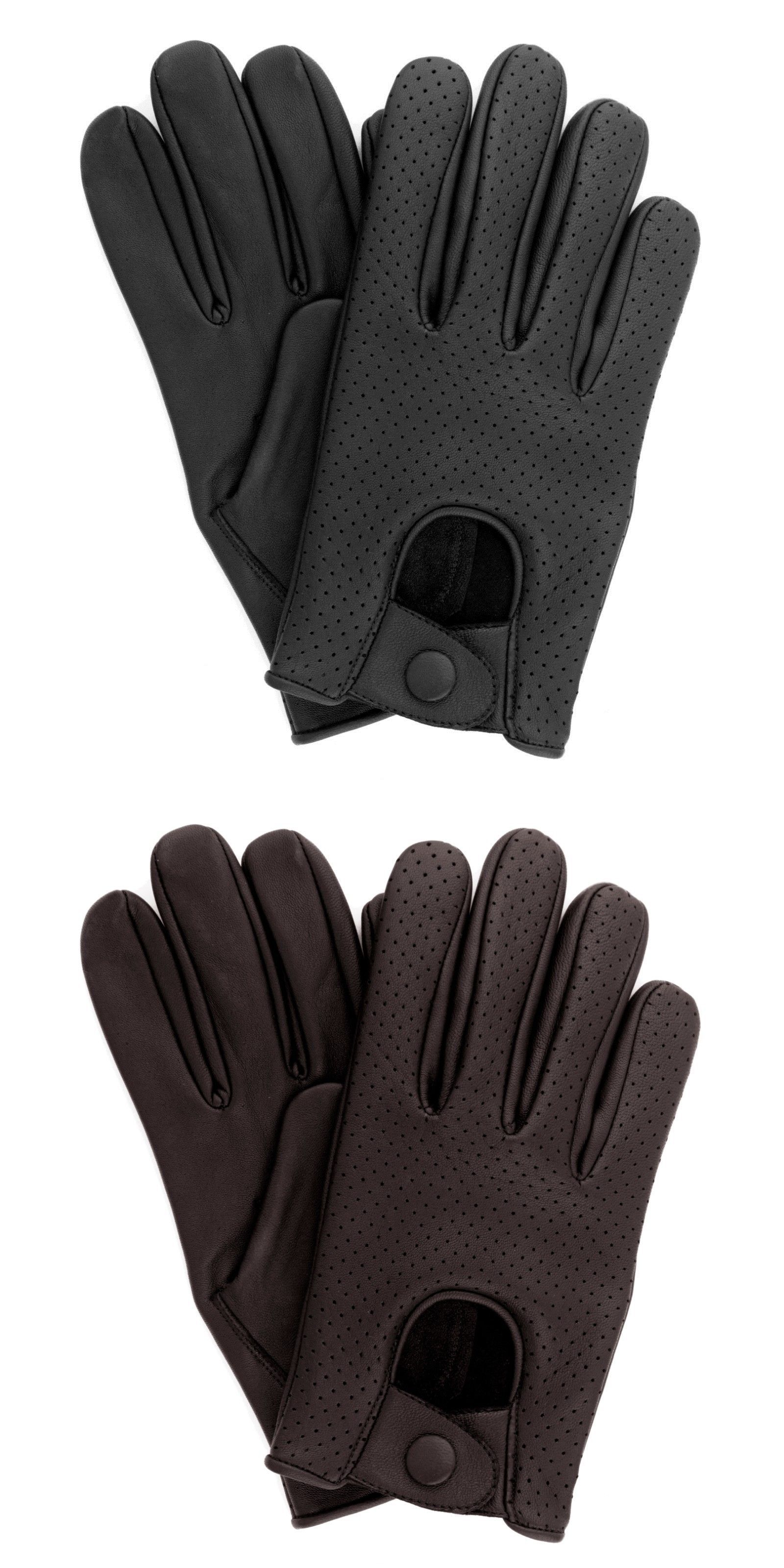 50980c7c92a Gloves 20853  Men S Real Lambskin Sheep Mesh Leather Driving Fashion Dress  Gloves -