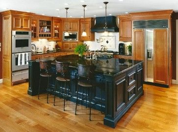 Island Color Black Kitchen Island Custom Kitchen Island Hickory Kitchen Cabinets