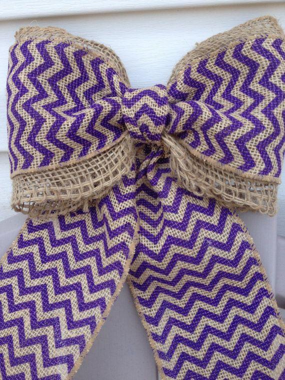 Purple Burlap Bow on Etsy, $8.00