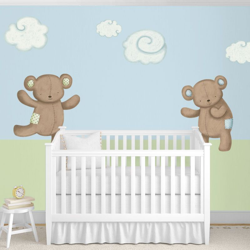 Teddy Bears And Cloud Wall Stickers Wall Stickers For Baby
