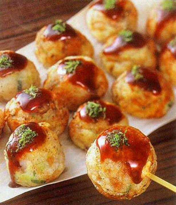 Takoyaki aka fried octopus balls deeelish Japanese