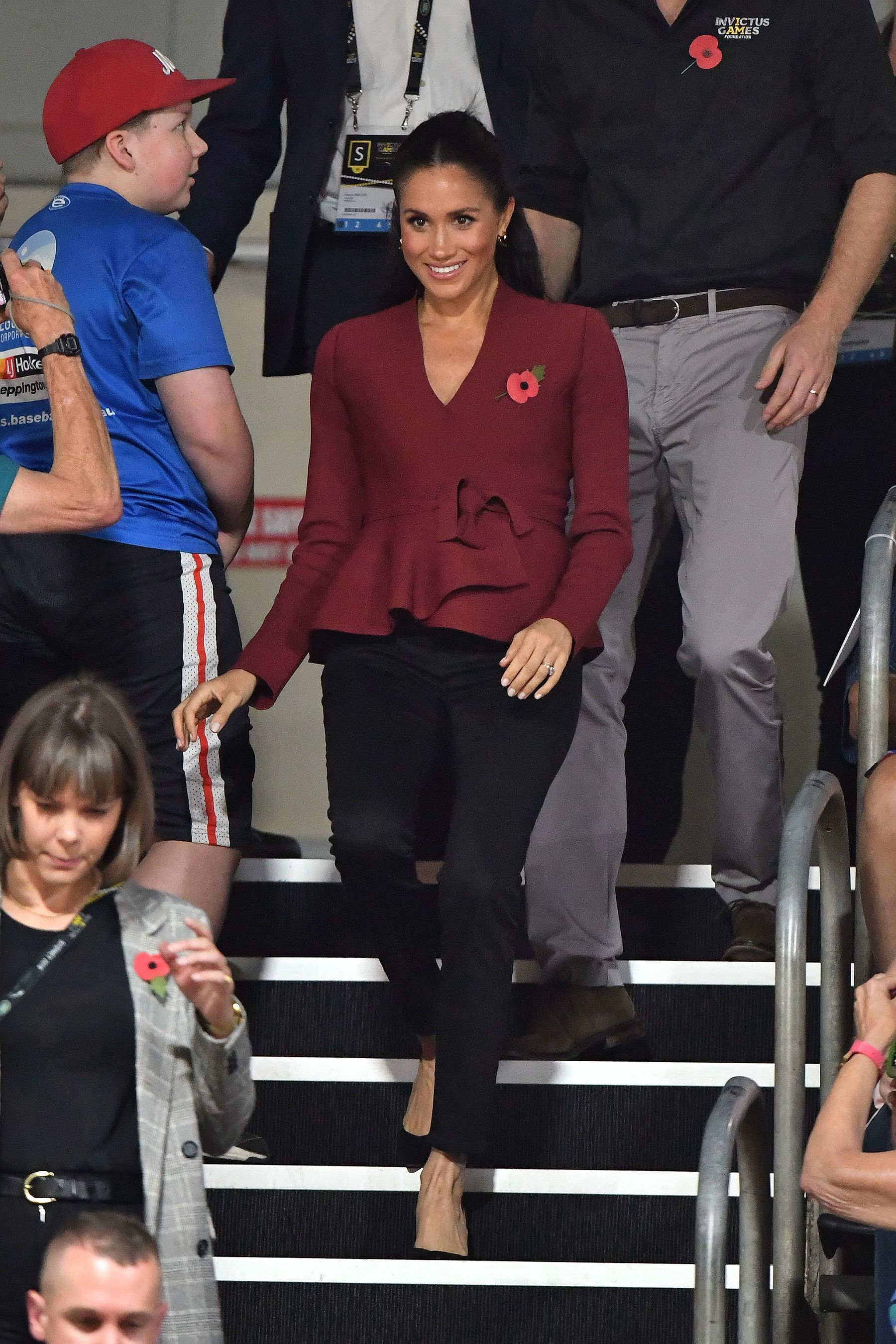 b9b370e7f55 Meghan Markle and Prince Harry Lead Cheering Section at Invictus ...