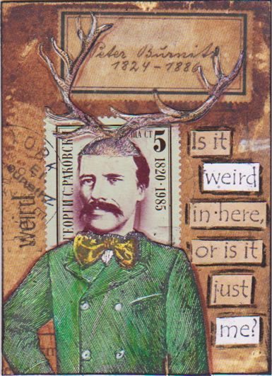 Weird Me by bockel24 - one of my own ATCs for the swap