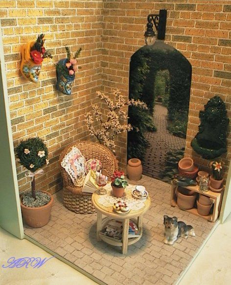 Fluffy Bricks: Garden Roombox