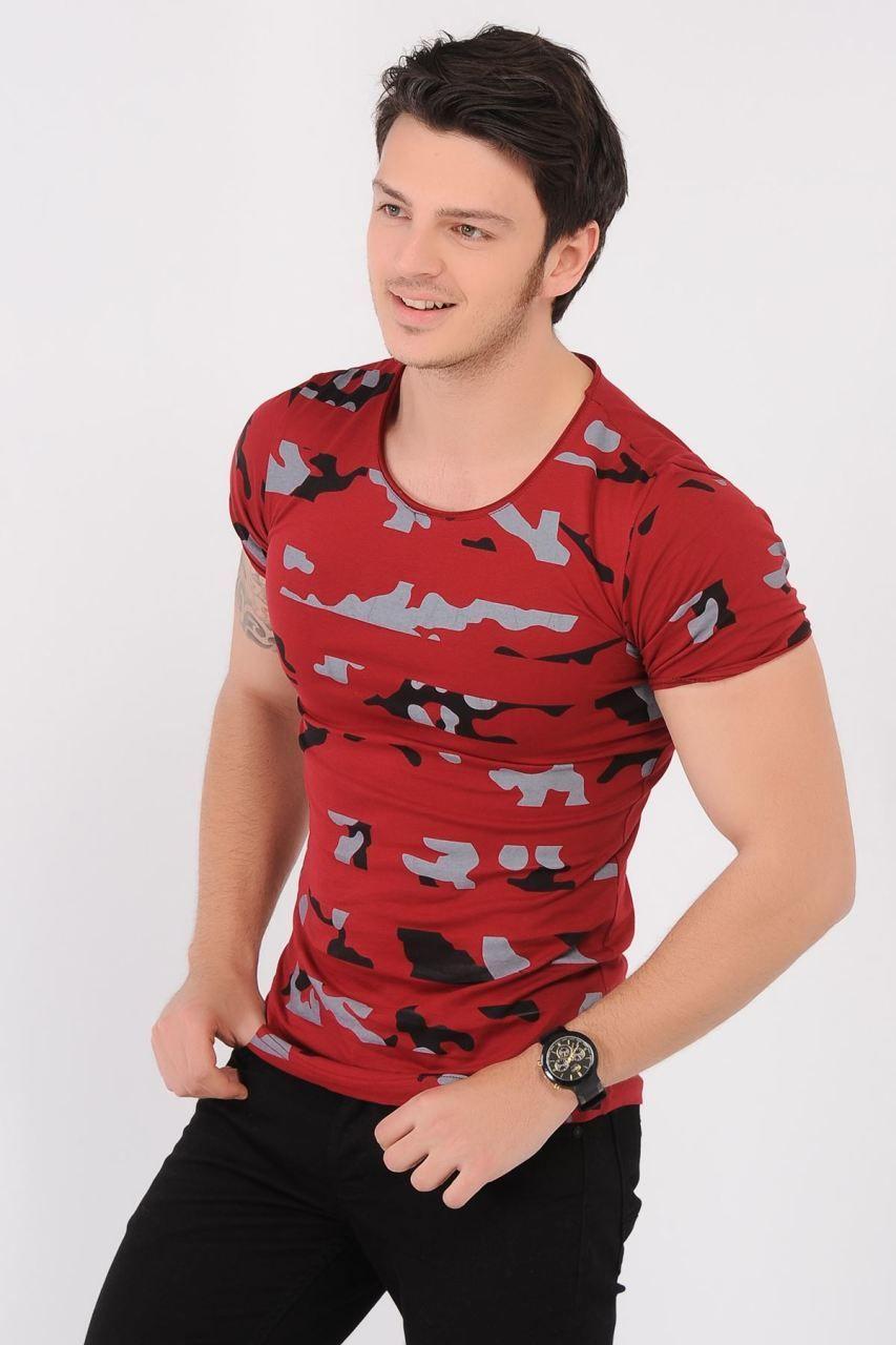 Kamuflaj Seritli Kirmizi T Shirt Giyim Indirim Kampanya Bayan Erkek Bluz Gomlek Trenckot Hirka Etek Yelek Mont Kase Kab Moda Erkek Tisort Gomlek