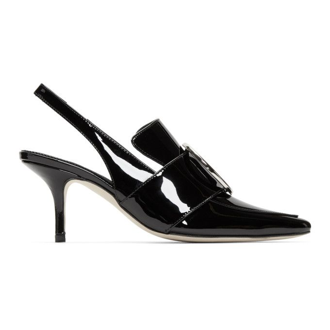 Eagle patent leather slingback pumps DORATEYMUR Gvy5y7