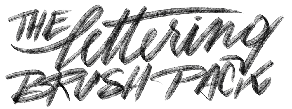 Download Lettering Brush Pack - Typeverything | Lettering ...