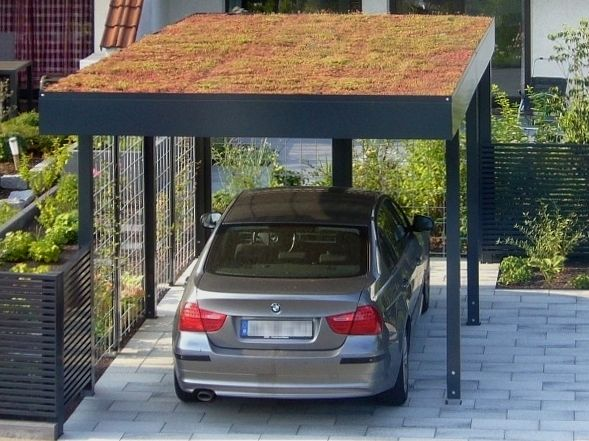 stahl carport mit dachbegr nung von siebau carport. Black Bedroom Furniture Sets. Home Design Ideas