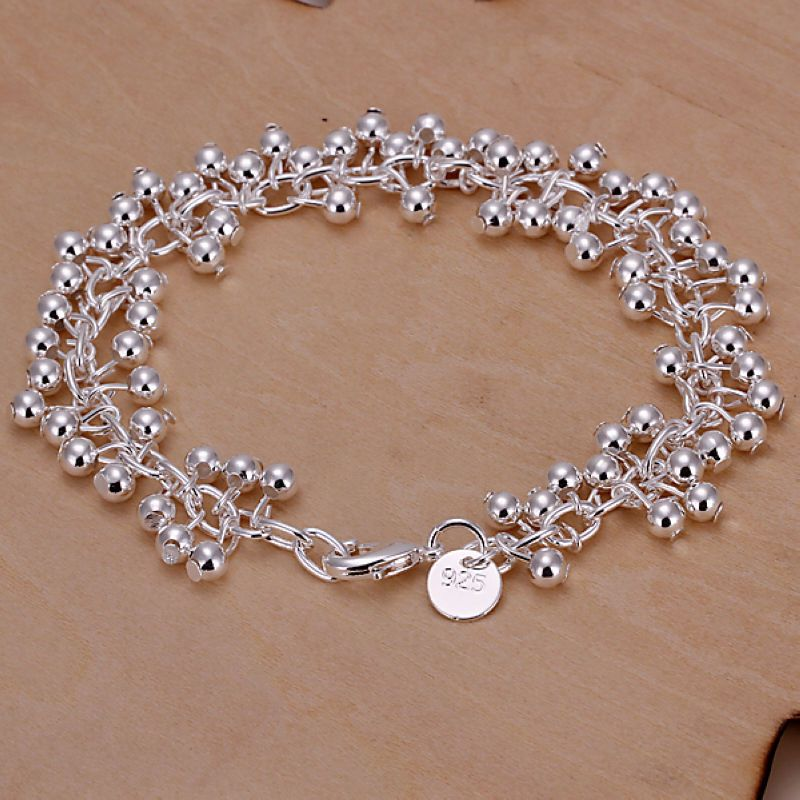 hot! wholesale sterling solid silver fashion grape bangle bracelet +box SFSB017
