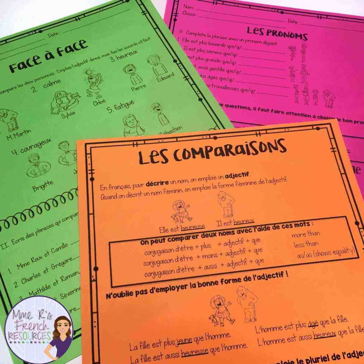 French 1 Resources For The Entire Year