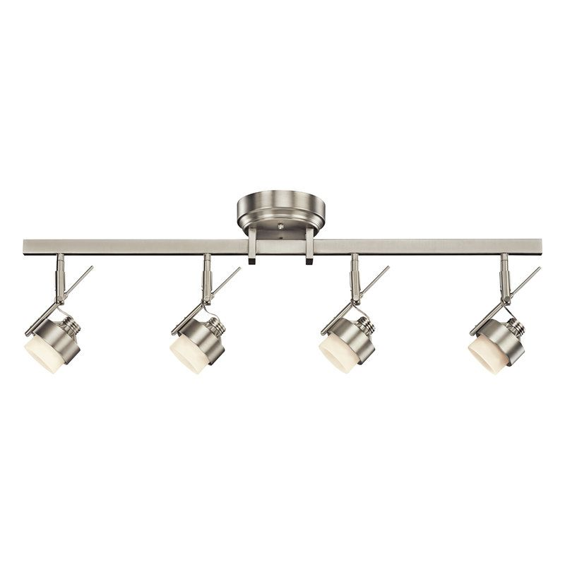 View The Kichler 10326 Modern 4 Light Led Directional Rail At Lightingdirect