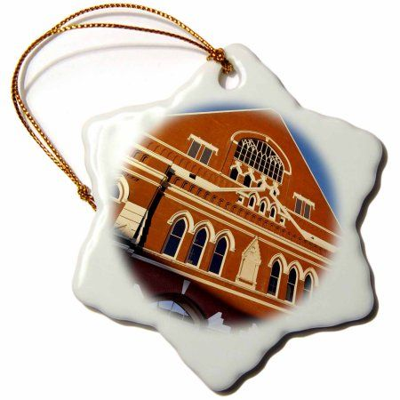 3dRose Grand Ole Opry, Nashville, Tennessee, USA - US43 BJN0018 - Brian Jannsen, Snowflake Ornament, Porcelain, 3-inch