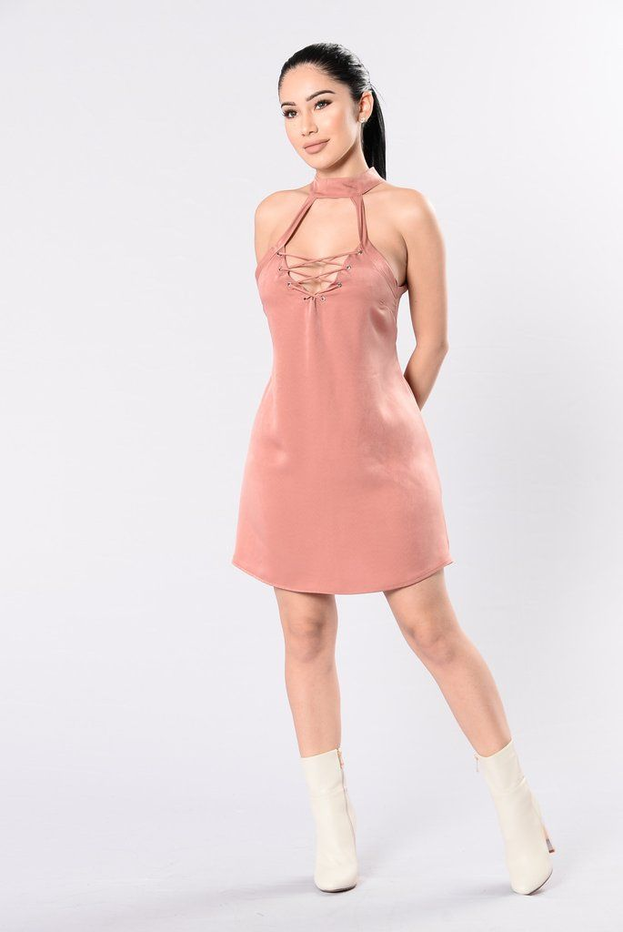 Lady Luxe Dress – Rust