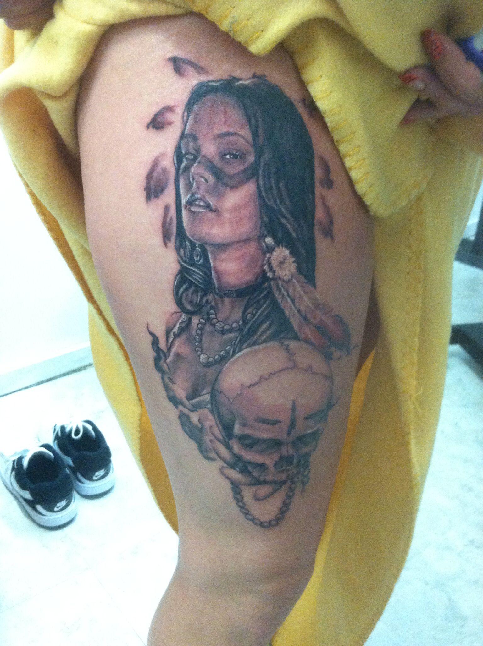 American Beauty Tattoos : american, beauty, tattoos, Native, American, Beauty, Tattoo, Chris, Hornsby, Beauty,, Tattoos