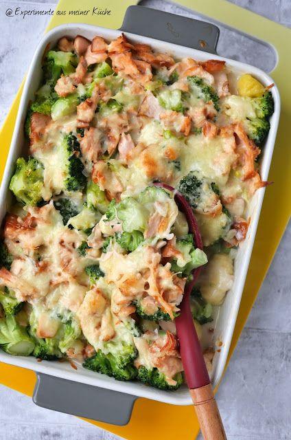 Brokkoli-Lachs-Auflauf mit Gnocchi