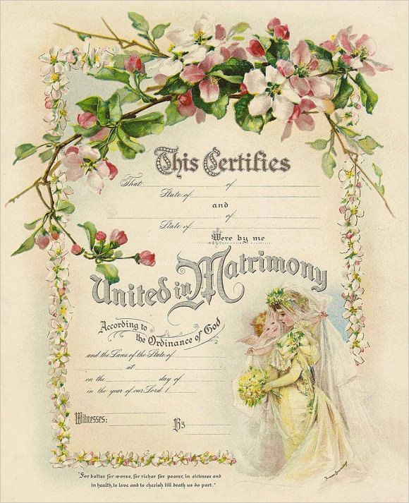 Printable Marriage Certificate Template Download u2026 wedding cert - marriage certificate template