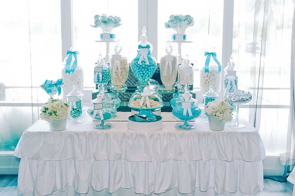 Aqua And White Lolly Buffet Lolly Buffet Blue Candy Buffet Dream Wedding Decorations