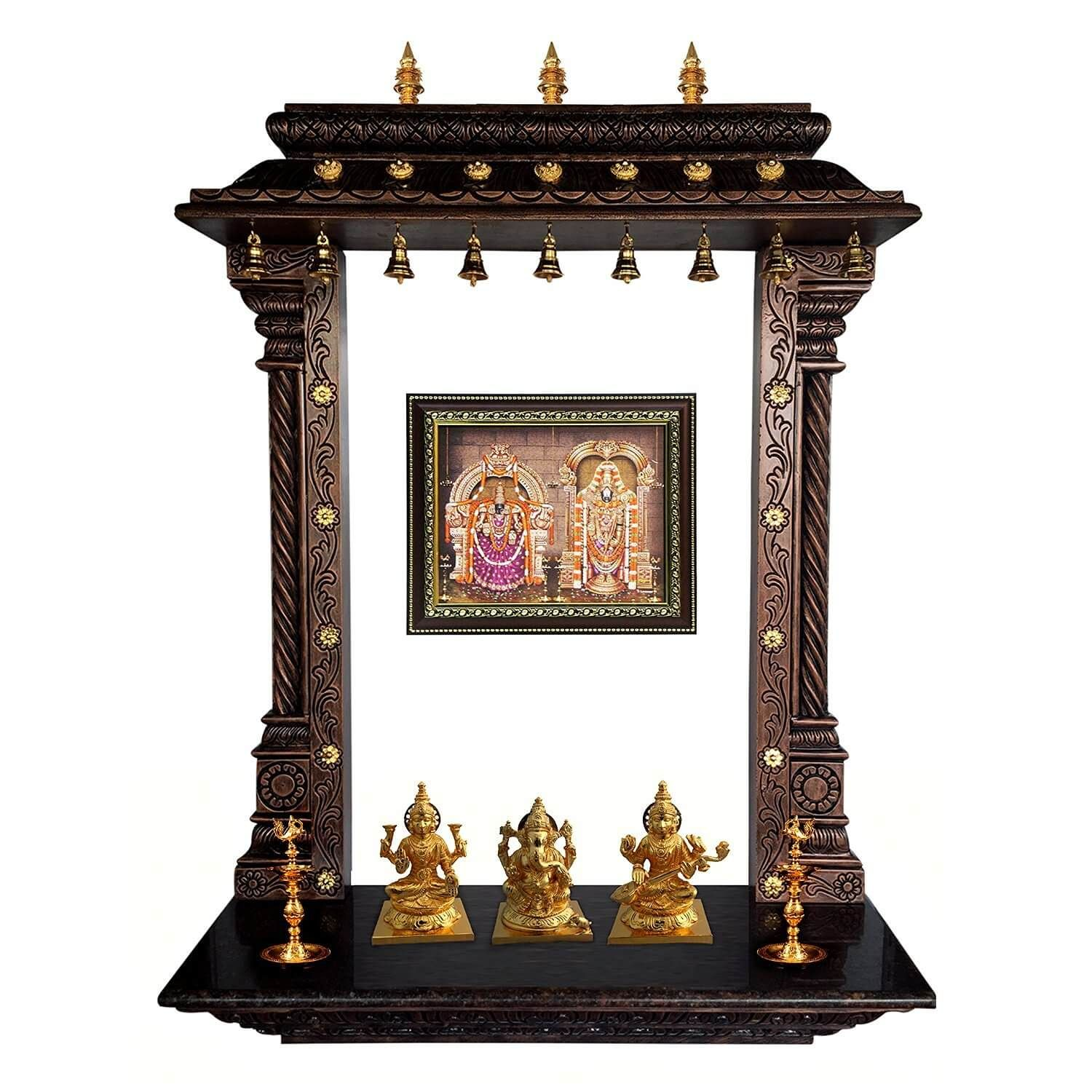 Awesome Wooden Pooja Mandir Designs For Home Frieze - Home ...