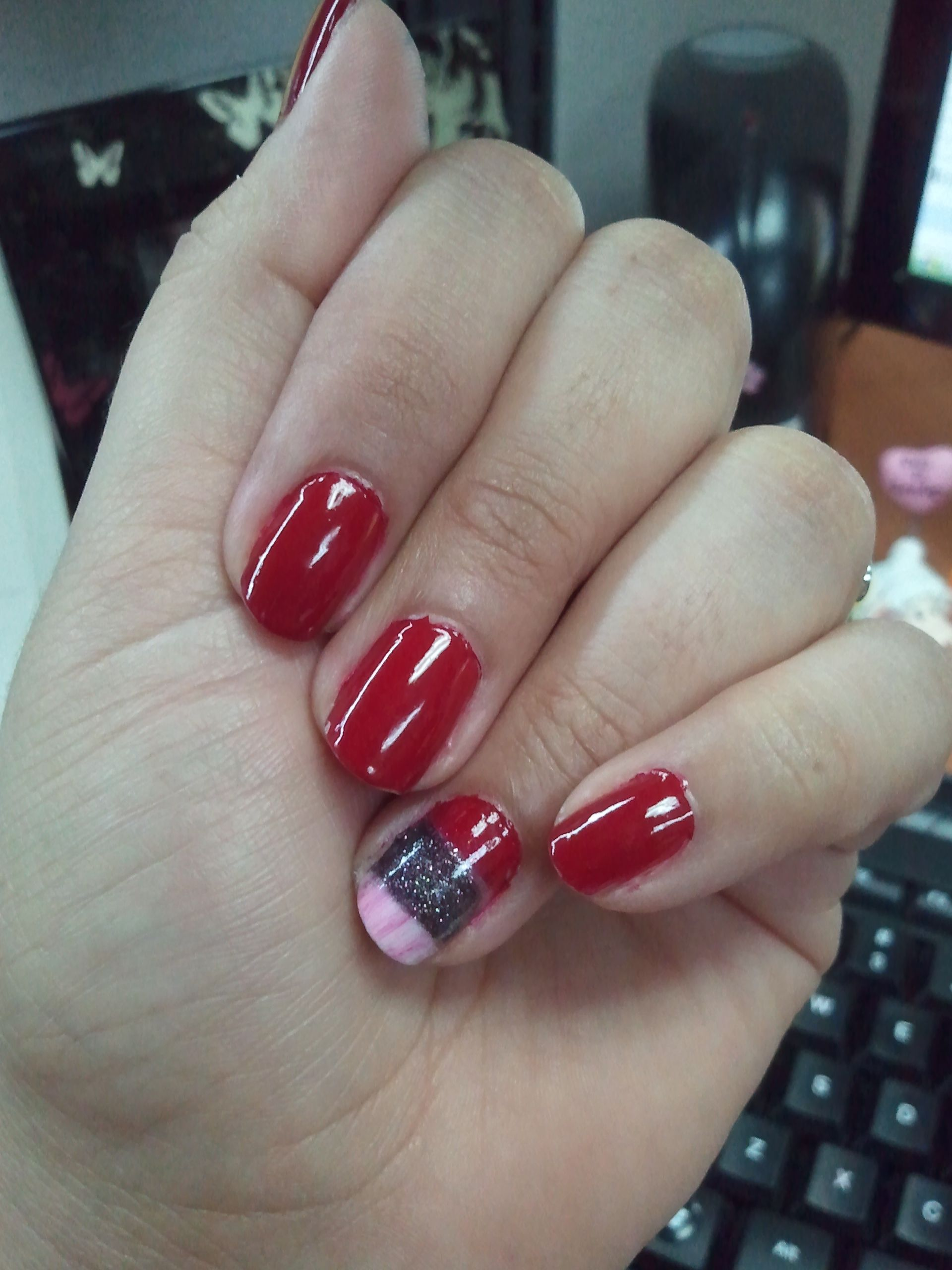 REaDy for the weeked! Red (Forever Yummy by Essie, Black: Glamour ...