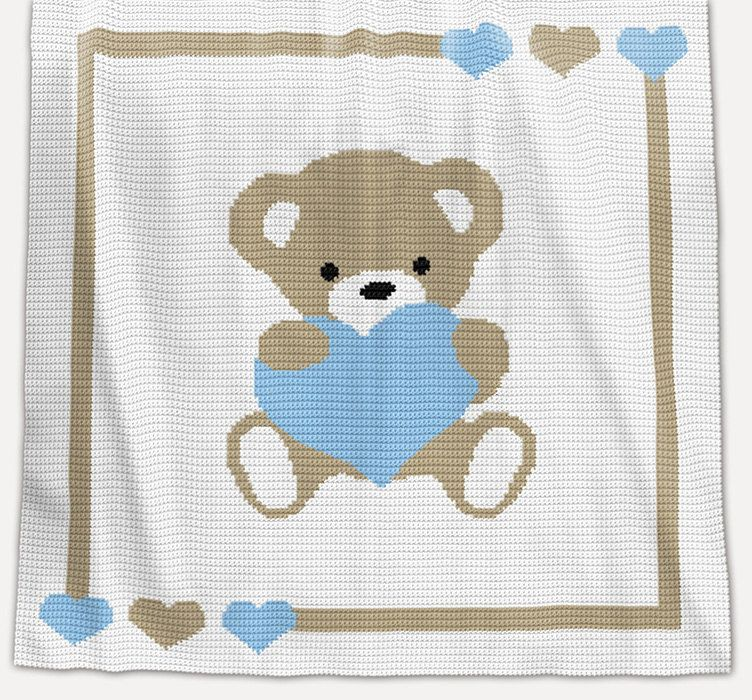CROCHET Pattern - Baby Blanket Pattern - Sweet Heart - Crochet Chart ...