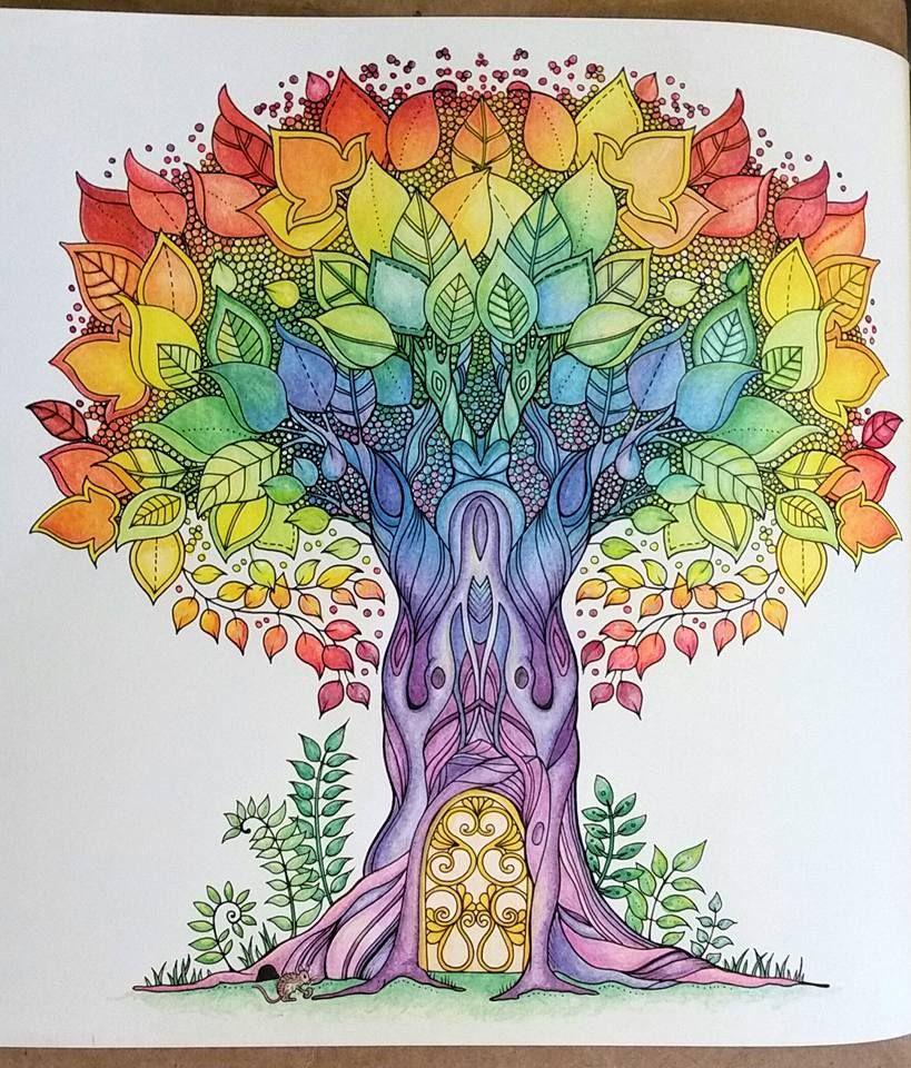 Tree Of Life Enchanted Forest Tree Of Life Johanna Basford