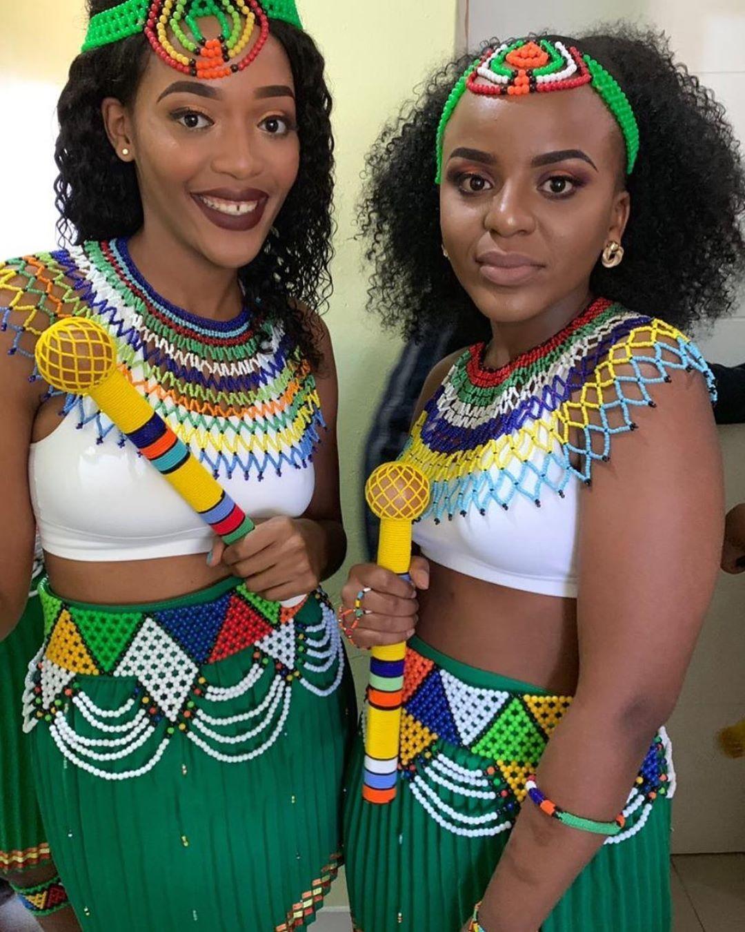 Modern Zulu Bride And Groom.   African clothing, African