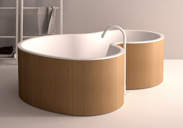 This Large Modern Bathtub Design Comes from a Company Called Agape #bathtubs trendhunter.com