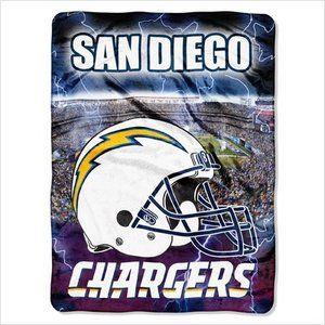 Northwest Co. NFL San Diego Chargers Raschel Throw