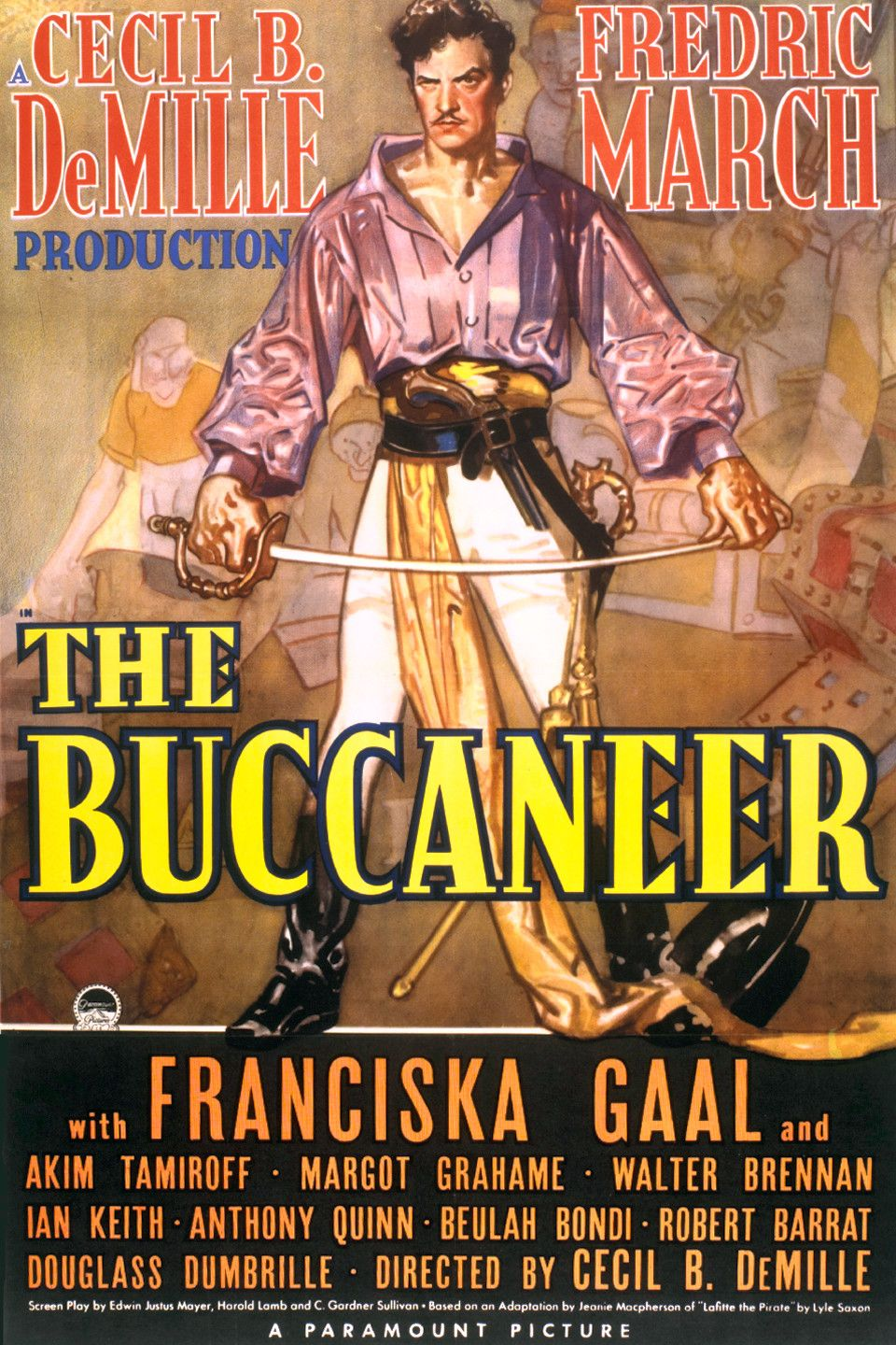 The Buccaneer (1938) Sailing Movies Pirate movies