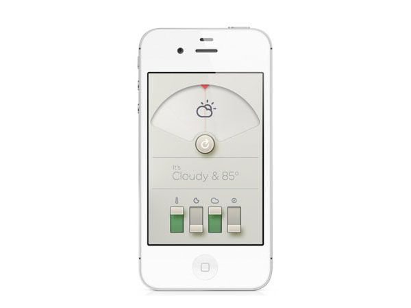 WTHR: Smart Weather App in the Style of Dieter Rams