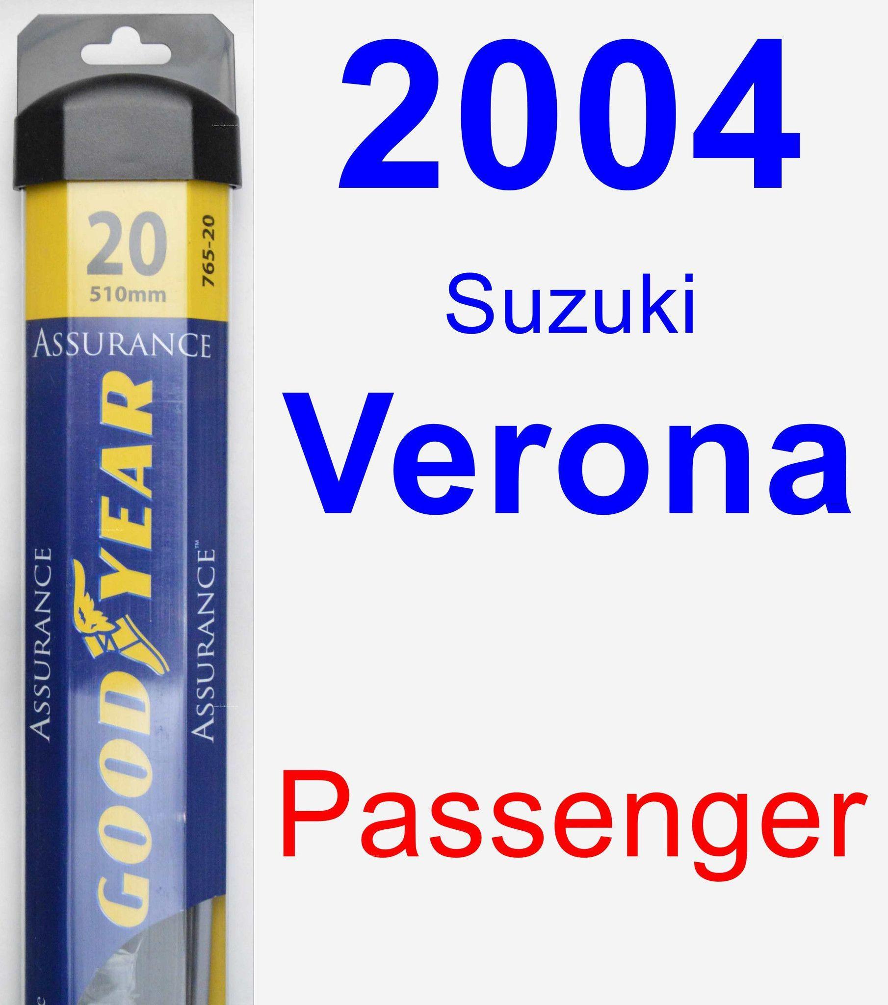 Passenger Wiper Blade for 2004 Suzuki Verona Assurance