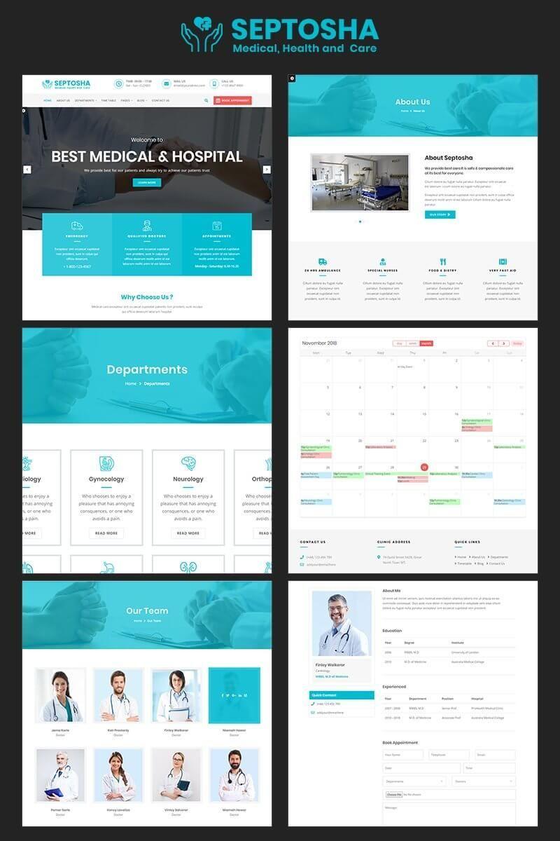 Modern And Responsive Medical Website Html Template Https Presentwebsite Com Html Templates Septosha Medical Health C Medical Health Care Health Care Medical