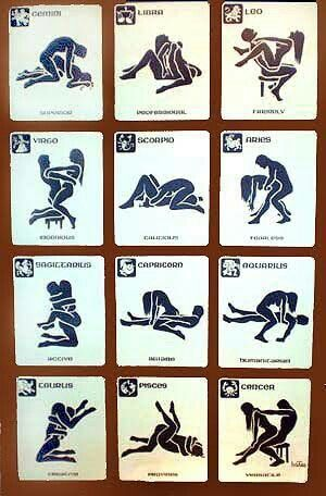 Sex positions with zodiac signs