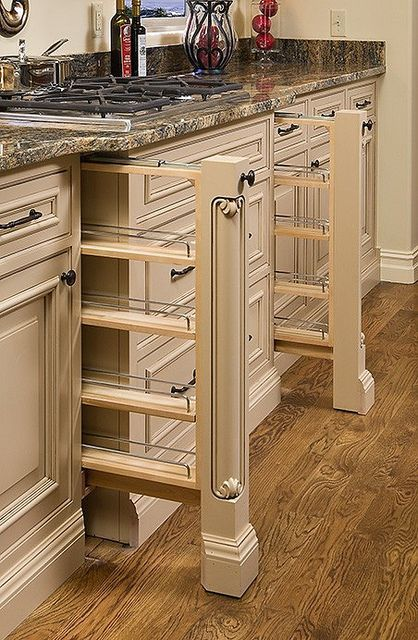 Superb Custom Kitchen Cabinetsu2014vertical Spice Racks (scheduled Via Http://www.