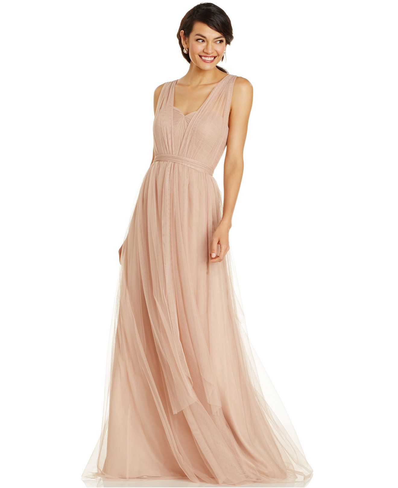 Adrianna papell convertible strapless tulle gown bridesmaids adrianna papell convertible strapless tulle gown bridesmaids women macys ombrellifo Gallery