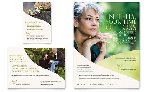 Memorial Funeral Program Flyer Ad Template