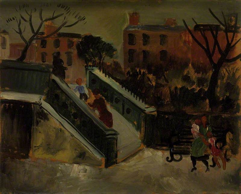 """The Steps, Chelsea"" by Christopher Wood, 1927"