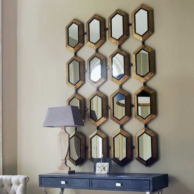 The Hex Mirror   Eclectic   Mirrors   Vanessa Francis