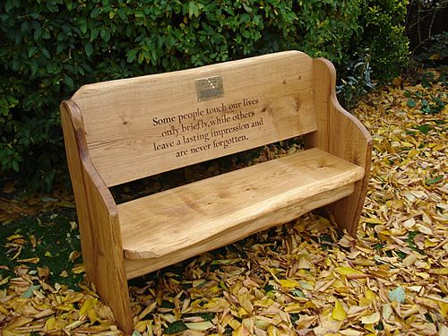 Rustic Wood Benches Outdoor | Oak Memorial Benches