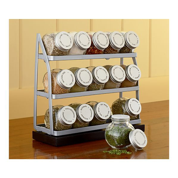 15 Jar Tiered Spice Rack In Food Containers, Storage | Crate And Barrel