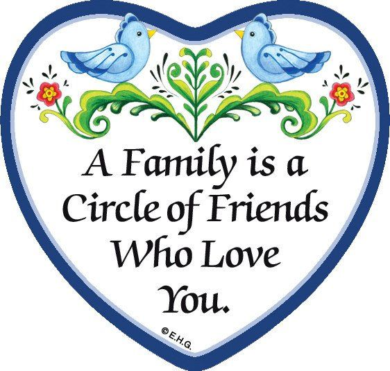 Magnetic Heart Tile A Family Is a Circle Of Friends Who Loves You