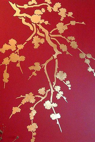 Cherry Blossom Silhouette Stencil 2 - Henny Donovan Motif