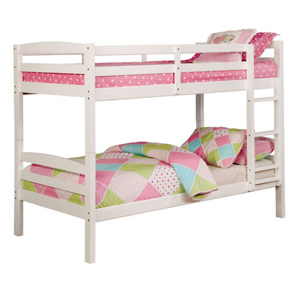 Twin Gorman Kids Bunk Bed White Homes Inside Out White Bunk