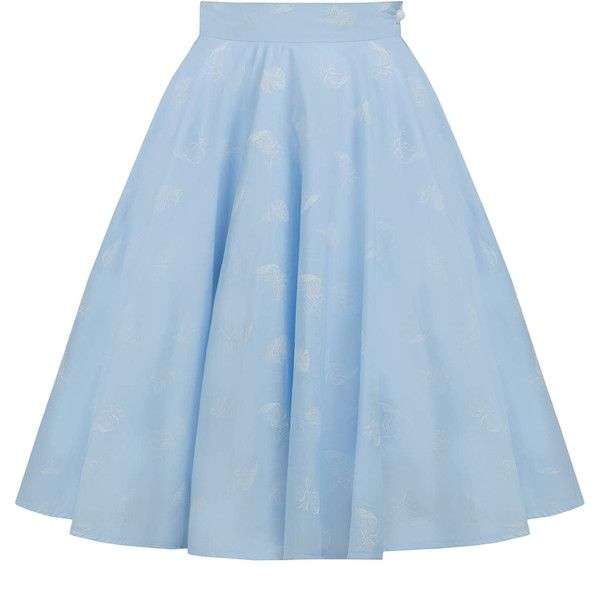 Light blue cotton skirt, retro skirt, circle skirt, pin up skirt, 50s... (176.250 COP) ❤ liked on Polyvore featuring skirts, blue swing skirt, blue cotton skirt, blue skater skirt, pinup skirt and circle skirt